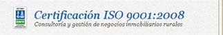 Certificación ISO 9001:2008 - Consultoría y gestión de negocios inmobiliarios
