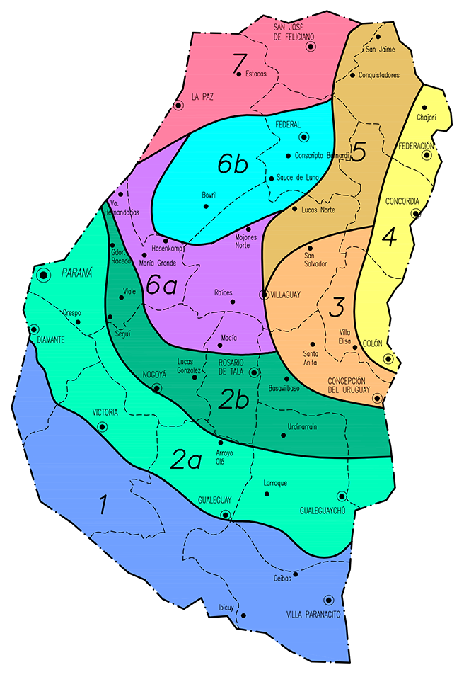 Zonas por valores de la Provincia de Entre Ríos