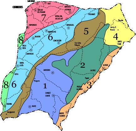 Zonas por valores de la Provincia de Corrientes
