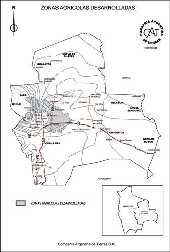 Zonas Agrícolas Desarrolladas en Bolivia