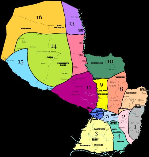 Zonas por Valores de la tierra en Paraguay