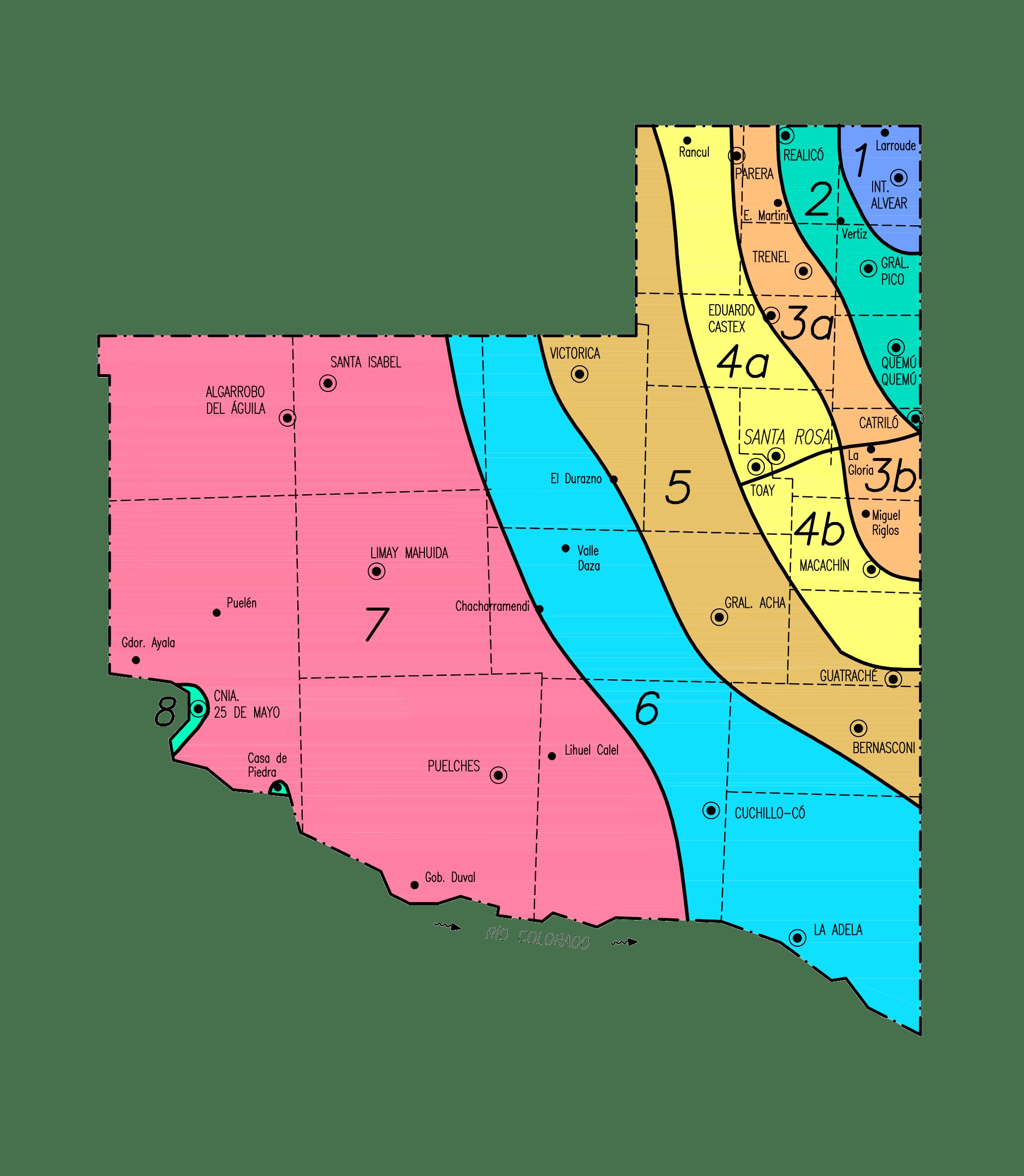 Zonas por Valores de la Provincia de La Pampa
