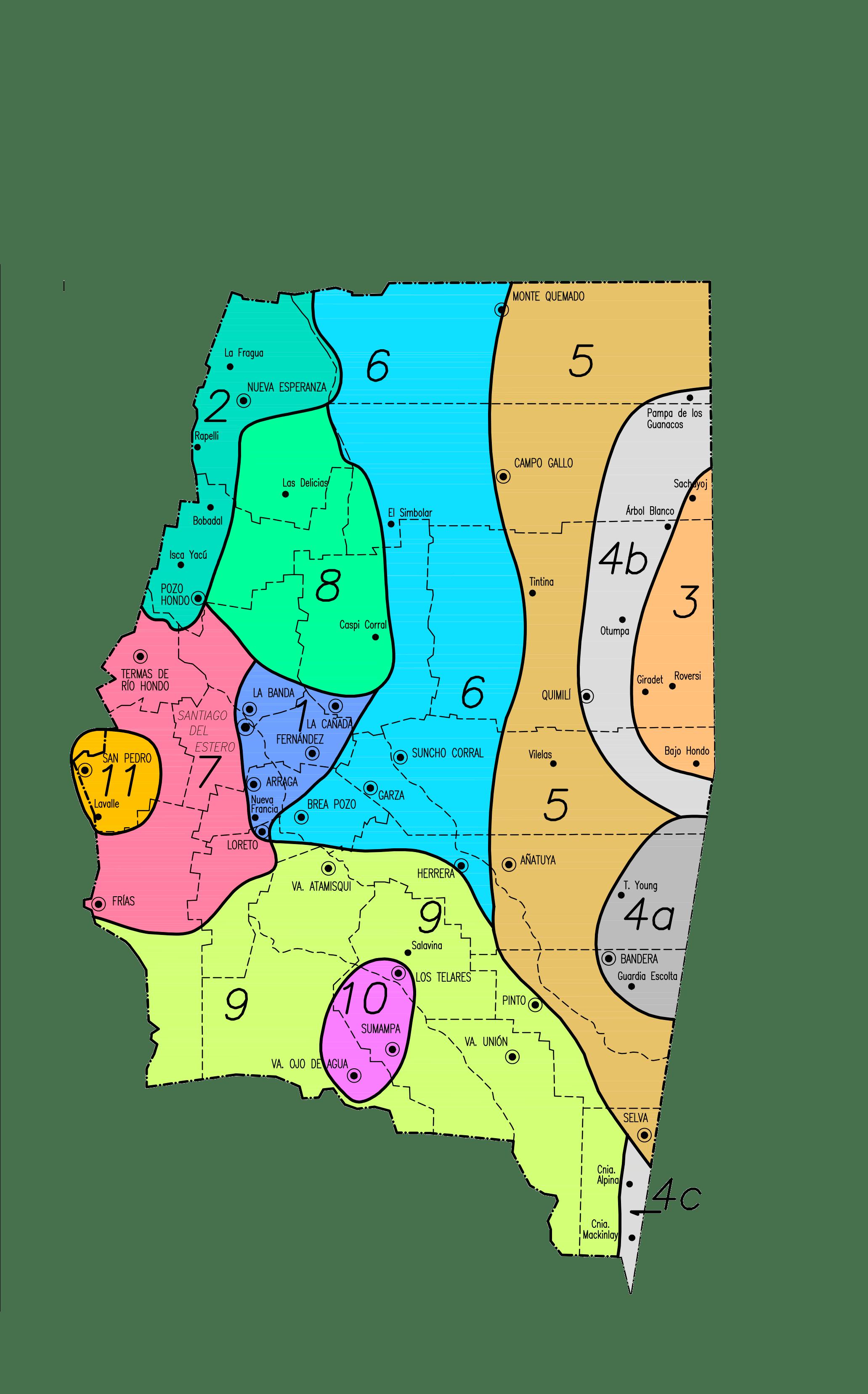 Zonas por valores de la Provincia de Santiago del Estero