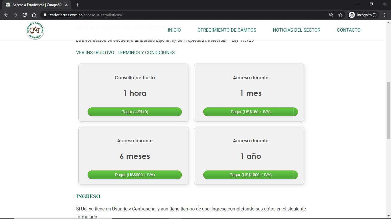 Compañía Argentina de Tierras - Instructivo de Compra 03